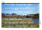Most Powerful Prayer With Irises Carry-all Pouch