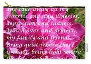 Most Powerful Prayer With Peony Bush Carry-all Pouch