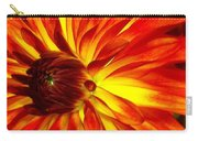 Mostly Orange Dahlia Flower Carry-all Pouch