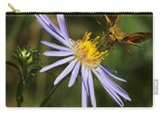 Moth Feeding On Aster Dragon Carry-all Pouch