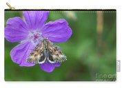 Moth Feeding On Geranium Sanguineum Carry-all Pouch