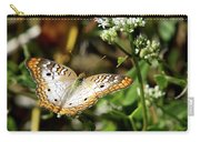 Moth On White Flower Carry-all Pouch