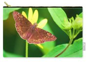 Moth On Yellow Carry-all Pouch