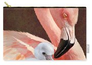 Mother And Baby Flamingo Carry-all Pouch
