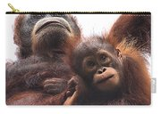 Mother And Baby Orangutan Borneo Carry-all Pouch