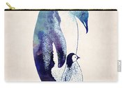 Mother And Baby Penguin Carry-all Pouch
