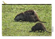 Mother And Child - Coypu - Nutria Carry-all Pouch