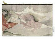 Mother And Child On A Couch Carry-all Pouch by James Abbott McNeill Whistler