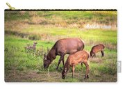 Mother Elk With Her Young Carry-all Pouch
