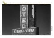 Mother Road Motel Black And White Carry-all Pouch