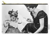 Mother Scolding Tearful Child Carry-all Pouch