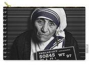 Mother Teresa Mug Shot Carry-all Pouch by Tony Rubino