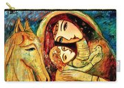 Mother With Child On Horse Carry-all Pouch