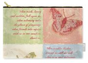 Mother's Day Butterfly Card Carry-all Pouch by Debbie DeWitt