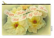 Mother's Day Card - Yellow Roses Carry-all Pouch