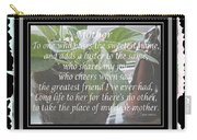 Mother's Day Greeting And Angel Carry-all Pouch