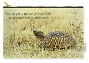 Motivating A Turtle Carry-all Pouch by Robert Frederick