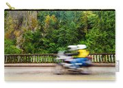 Motorcycle And Green Forest Carry-all Pouch