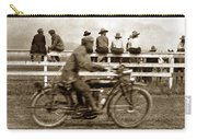 Motorcycle At Salinas California Rodeo Grounds Circa 1910 Carry-all Pouch