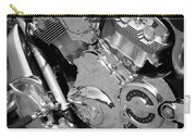 Motorcycle Close-up Bw 2 Carry-all Pouch