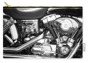 Motorcycle Close-up Bw 3 Carry-all Pouch