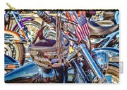 Motorcycle Helmet And Flag Carry-all Pouch