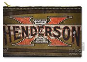 Motorcycle - Henderson Gas Tank Carry-all Pouch