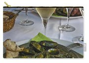 Moules And Chardonnay Carry-all Pouch by Allen Sheffield