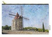 Moulin De Daudet Fontvieille France On A Texture Dsc01833 Carry-all Pouch