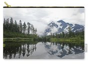 Mount Baker- Lake- Fir Trees And  Fog Carry-all Pouch