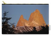 Mount Fitz Roy At Sunrise Carry-all Pouch