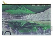 Mount Fuji In Green Carry-all Pouch
