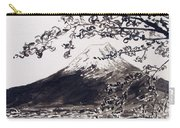Mount Fuji Spring Blossoms Carry-all Pouch
