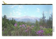 Mount Katahdin And Wild Flowers Carry-all Pouch