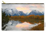 Mount Moran Reflection Sunset Carry-all Pouch