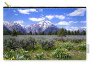 Mount Moran Wildflowers Carry-all Pouch by Brian Harig