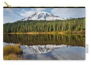Mount Rainier And Reflection Lakes In The Fall Carry-all Pouch