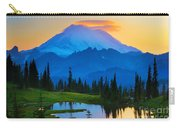 Mount Rainier Goodnight Carry-all Pouch by Inge Johnsson