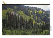 Mount Rainier Ridges And Fir Trees.. Carry-all Pouch