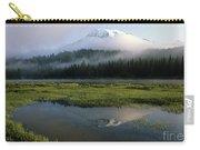 Mount Rainier Shrouded In Fog Carry-all Pouch
