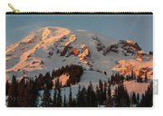 Mount Rainier Sunset Glow Carry-all Pouch