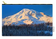Mount Rainier Winter Evening Carry-all Pouch