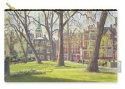 Mount Street Gardens, London Oil On Canvas Carry-all Pouch