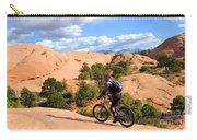 Mountain Biking Moab Slickrock Trail - Utah Carry-all Pouch by Gary Whitton