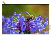 Mountain Cornflower And Bumble Bee Carry-all Pouch by Byron Varvarigos