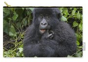 Mountain Gorilla Baby Chewing On Finger Carry-all Pouch