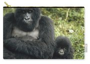 Mountain Gorilla Mother And Baby Carry-all Pouch