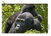 Mountain Gorilla With Infant  Carry-all Pouch