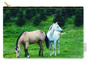 Mountain Horses Grazing  Carry-all Pouch