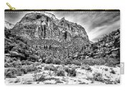 Mountain In Winter - Bw Carry-all Pouch
